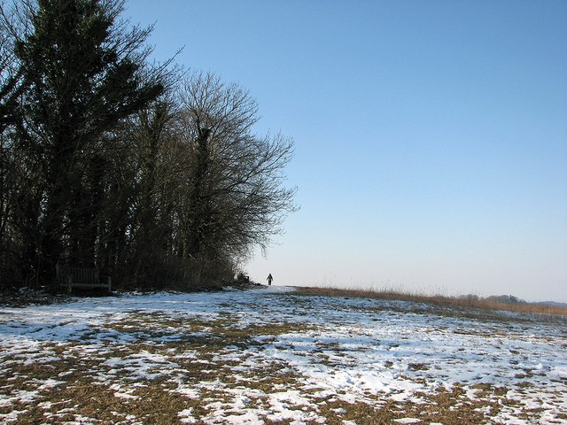 At the summit of Little Trees Hill