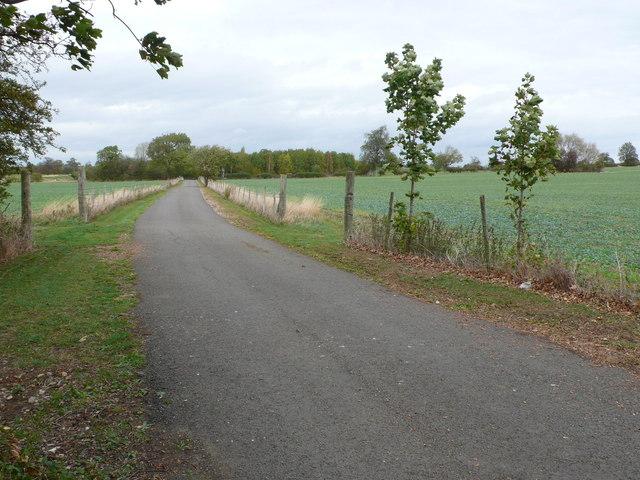 Drive to Ullington Hall Farm