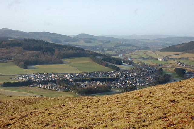 Cardrona from the southwest slopes of Lee Burn Head