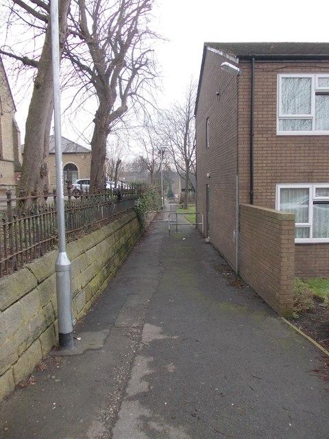 Footpath - St Matthias' Street