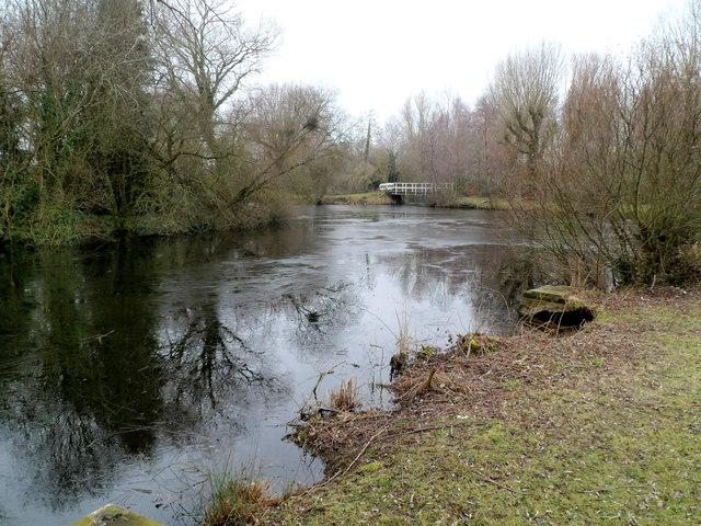Lake bridge, Glan Llyn, Newport