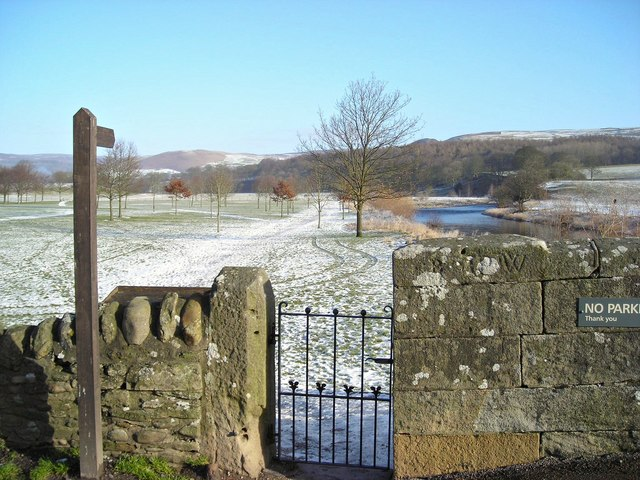 Gate to the Dales Way