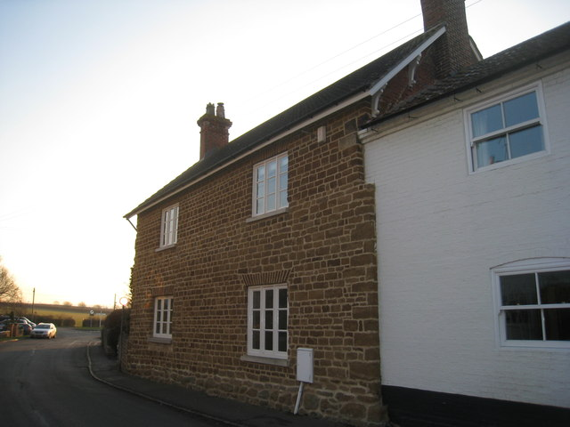 Ironstone cottage on School Lane, Harby