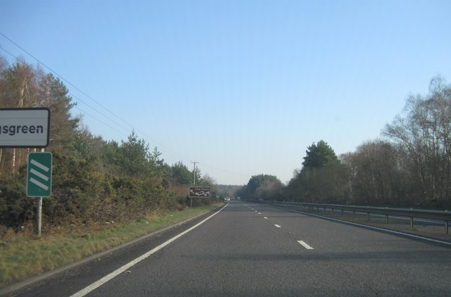 A3, turning for Old Thorns