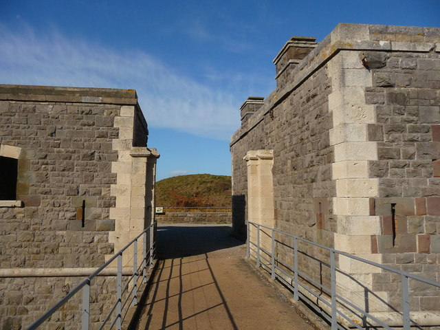 Brean Down - Brean Down Fort Entrance