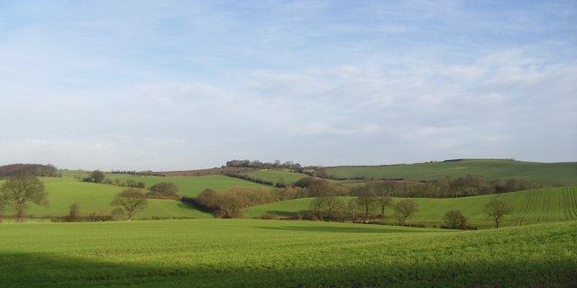 Gently rolling countryside.