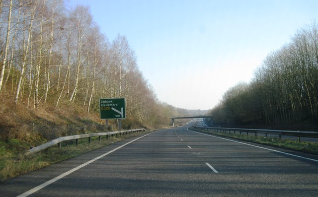 A3, approaching Liphook turning