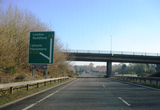A3, Liphook turning