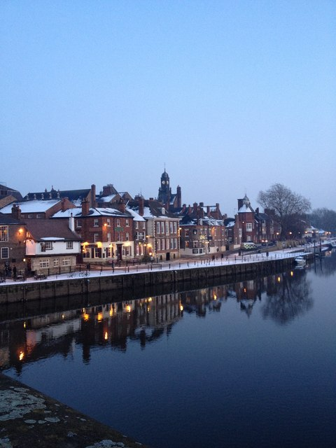 North bank of the River Ouse, from Ouse bridge.  York