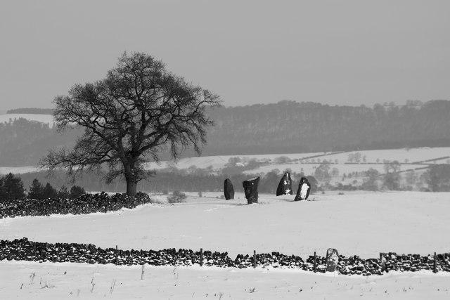 Stone Circle, Harthill Moor