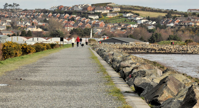 The seawall, Newtownards