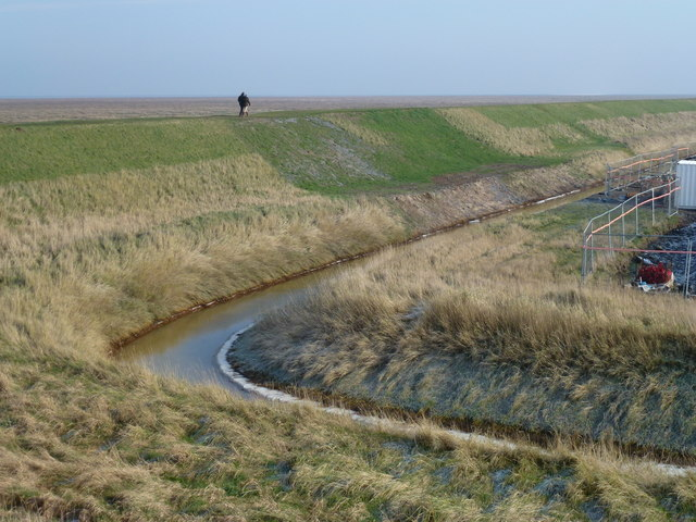 A new section in the sea bank of the Wash