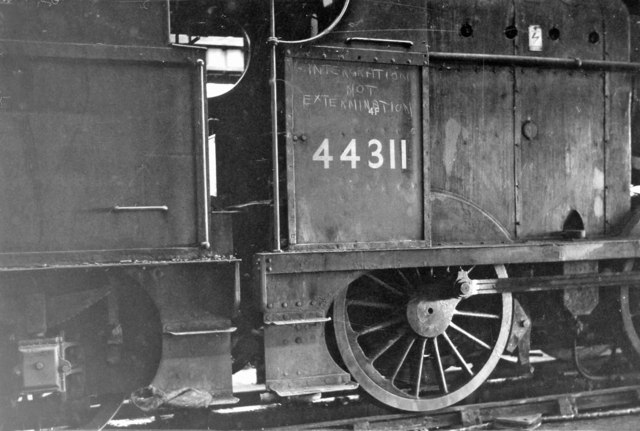 Socialist outburst on a 4F 0-6-0 at Bury in 1963