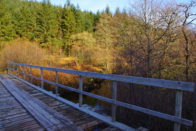 Forest road bridge over Glencripesdale Burn