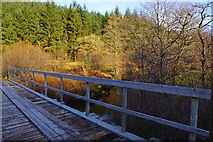 NM6759 : Forest road bridge over Glencripesdale Burn by Pat Macleod