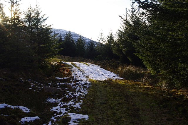 The remains of a light dusting of snow in Glencripesdale