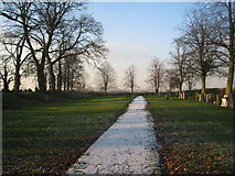 SK7431 : Churchyard extension, Harby by Jonathan Thacker