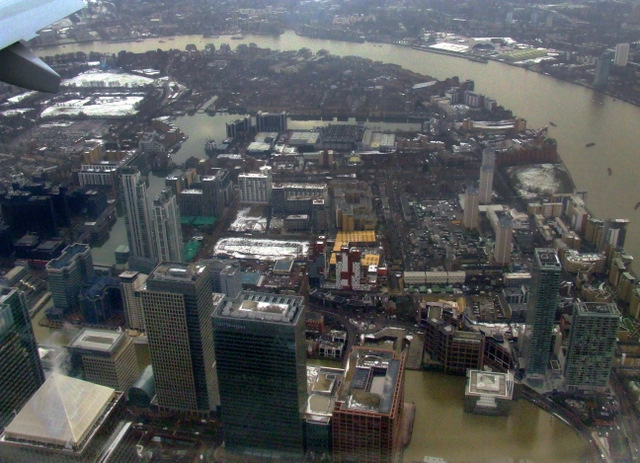 Canary Wharf from the air