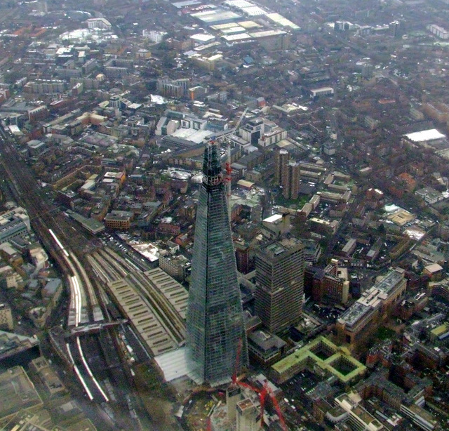 The Shard from the air