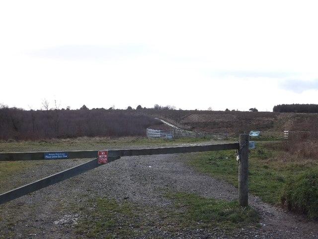 Track onto Ideford Common