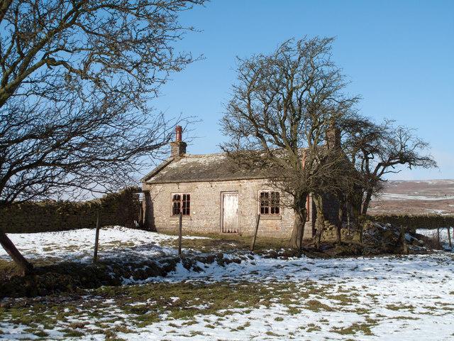 Deserted cottage west of Eggleston Burn