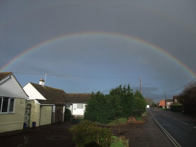 Rainbow over Burton