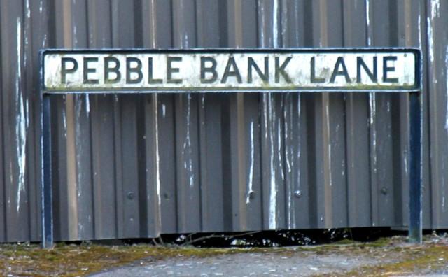 Pebble Bank Lane sign