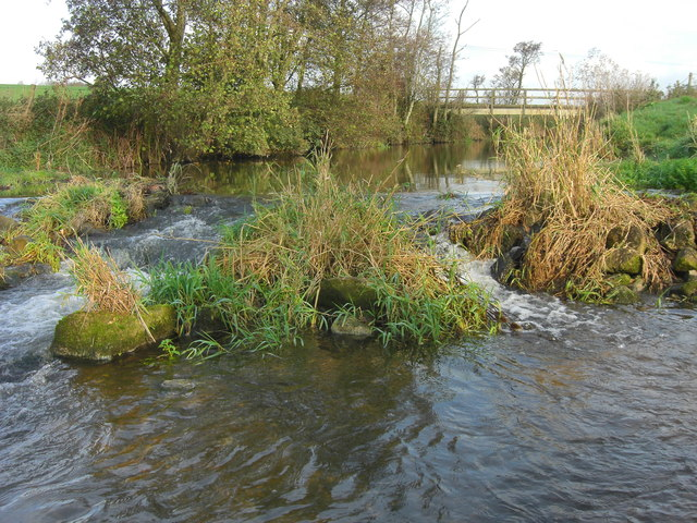 Footbridge over the river Stour