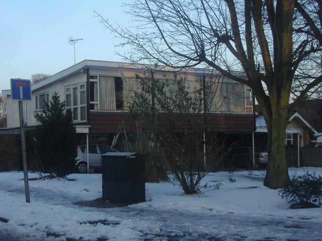 Modern house on the corner of Allard Way, Broxbourne