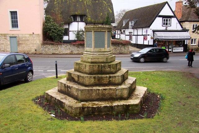 The war memorial in Prestbury