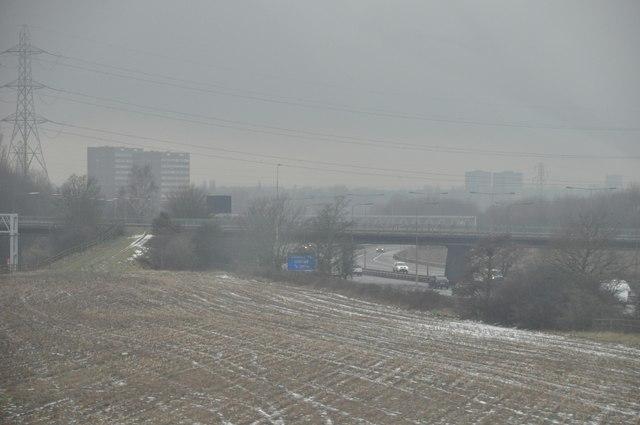 North Warwickshire : M6 Motorway & Field