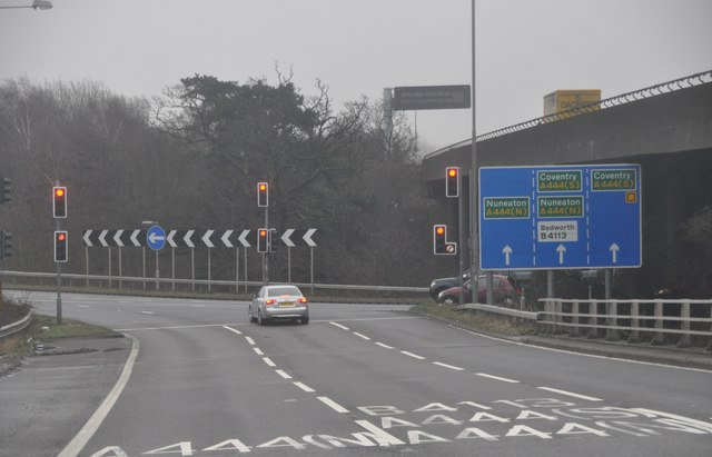 North Warwickshire : The M6 Motorway Junction 3