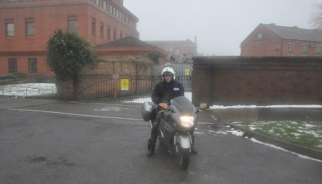 Nuneaton : Police Bike on Vicarage Road