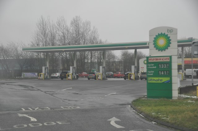 Nuneaton : BP Petrol Station