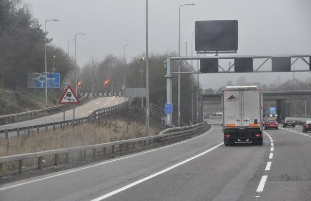 Solihull : The M42 Motorway at Junction 5