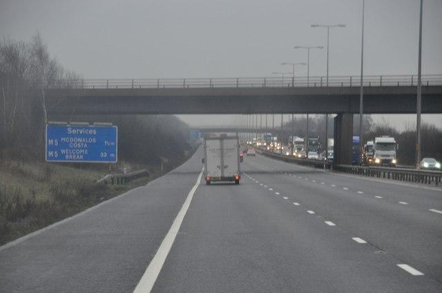 Malvern Hills : The M5 Motorway
