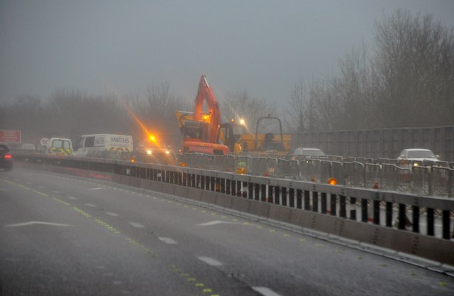 Gloucester : M5 Motorway Roadworks