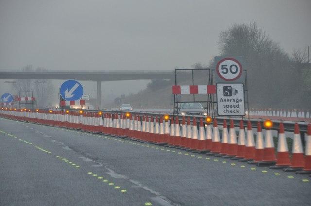 Stroud : The M5 Motorway Roadworks