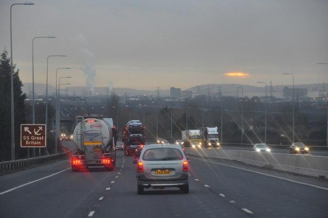 Bristol : Avonmouth - M5 Motorway Southbound
