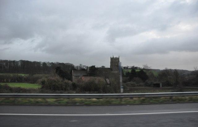 North Somerset : M5 Motorway & Portbury Church