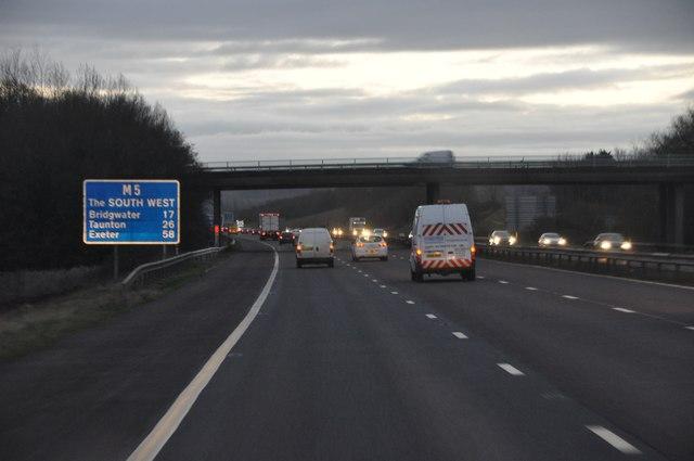 North Somerset : M5 Motorway Southbound