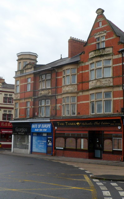 Three businesses at the southern end of Commercial Street, Newport