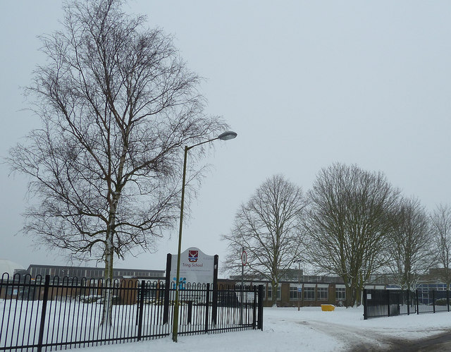 Tring School in the snow