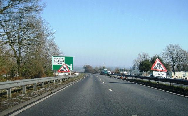 A3 heading north