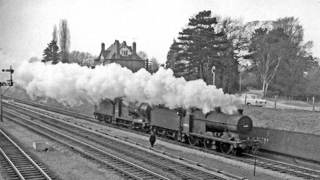 Two light engines coupled heading towards Cheltenham