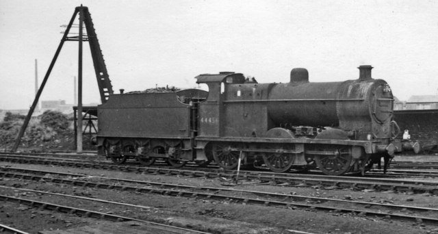 LMS Fowler 4F 0-6-0 at Northwich Locomotive Depot