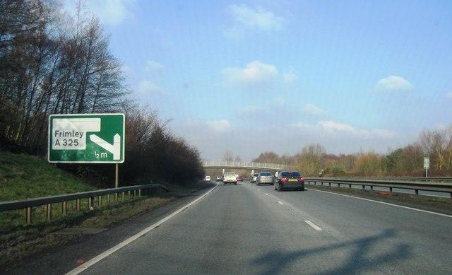 A331, Frimley Turning