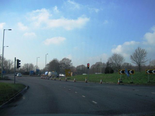 Junction 4, M3, roundabout