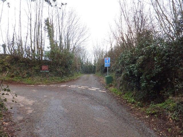 Access road for Broomhouse Farm