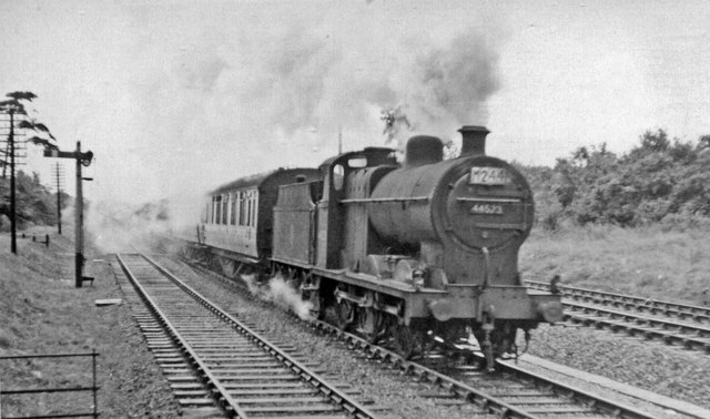 LMS 4F 0-6-0 on Down express at Haresfield